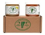 1 lb. Jar of Raw Naturally Crystallized Honey & 1 lb. Jar Liquid Honey